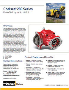 Download Parker Chelsea 208 Series Bulletin - Powershift Hydraulic 10-Bolt