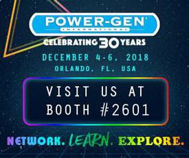 Visit Parker at Power-Gen 2018 - Booth 2601
