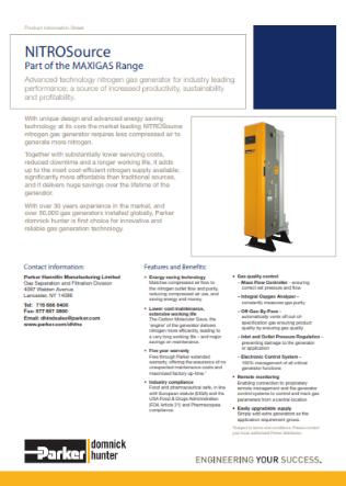Nuevo Generador de Nitrógeno lanzado para Norte y Sudamérica