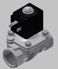 stainless steel solenoid valve CAD drawing 221G